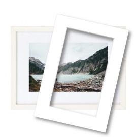 Fotolijst met passe partout 60x80cm hout wit