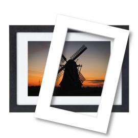 Fotolijst met passe partout 60x80cm hout zwart
