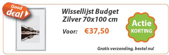 Wissellijst Budget Zilver 70x100 actie