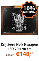 Krijtbord Noir Hexagon LED