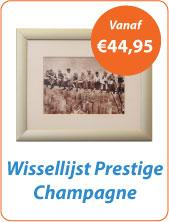Wissellijst champagne breed plexiglasfolie